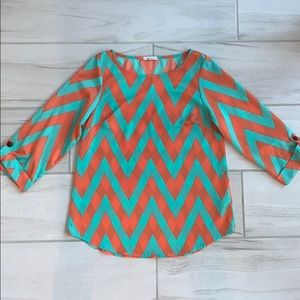 Everly chevron blouse size S
